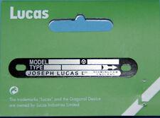 Lucas bouclier sur zündmagnet Black magnéto Label k2f Clockwise w10435 ZB BSA TWIN