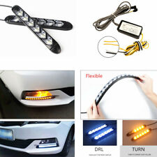White / Amber Flexible DRL White/Amber Switchback Flowing 2 x 180mm Waterproof