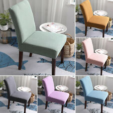 1pc Soft Stretch Dining Chair Covers Slipcover Seat Removable Protective Cover