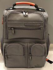 *NEW* Tumi Grey Orange Compact Laptop Brief Backpack Travel Luggage Bag #263173