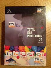 Portwest tapones para oídos de espuma PU Protección EN352-2 (EP02) Caja de 50