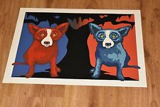 George Rodrigue Blue Dog Be My Valentine Silkscreen Print  Signed Numbered Art