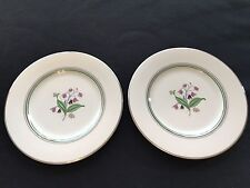 "Set of 2 Syracuse China Old Ivory Coralbel ~ Dinner Plates 9-3/4"" ~ Vintage OPCO"