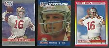 Lot of 3 1990 Joe Montana San Francisco 49ers HOF Quarterback Football Cards