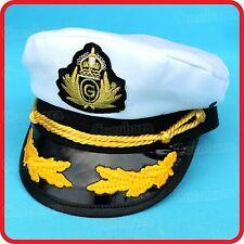 WHITE CAPTAIN HAT-PILOT,AIR FORCE,MILITARY,NAVY,YACHT,SKIPPER,SAILOR-COSTUME 6