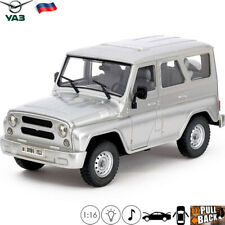 Model Off-road Vehicle Scale 1:16 UAZ 3151 Silver Russian Toy Car Light/Sound