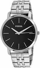 Fossil Men's Luther BQ2312I 44mm Black Dial Stainless Steel Watch