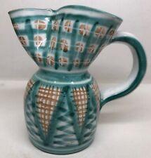 Rare Grand Vase Pichet Signé RP Picault Vallauris Vintage H 18,5 L 18 l 11 Cm