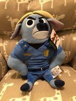 """DISNEY Zootopia Chief Bogo Soft Plush Toy 12""""   NWT"""