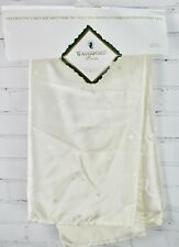"""Waterford Linens Logo Decorative Table Square 45"""" x 45"""" Ivory"""