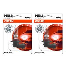 2x Lexus RX HB3 Genuine Osram Original High Main Beam Headlight Bulbs Pair