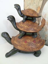 AUSTIN PRODUCTIONS STATUE TRI TORTOISE FIXED STACKED RETIRED TURTLE  item #3919