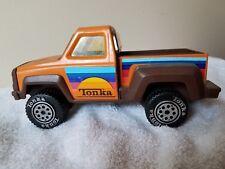 Vintage 1979 Tonka Pickup Truck With Hitch Orange Die Cast & Plastic