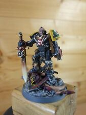 CONVERTED CUSTOM WARHAMMER SPACE MARINE RED SCORPIONS COMMANDER PAINTED (L)