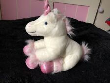 Build a Bear BABW plush soft Unicorn white fur pink sparkling accents RETIRED