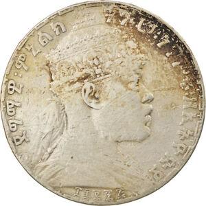 [#856553] Coin, Ethiopia, Menelik II, Birr, 1903, Paris, VF(20-25), Silver