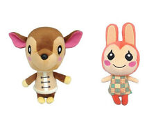 "Authentic Set of 2 Little Buddy Animal Crossing 7"" Fauna & Bunnie Plush"