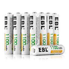 20x EBL 1100mAh AAA NiMH Rechargeable Battery for Camera Flashlight + Case Box