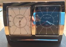 LINKS OF LONDON GENUINE TRAVEL ALARM CLOCK - DUAL TIME ZONES