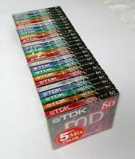 25 Stück TDK Color MD MiniDisc 80 Minuten 5 x 5er Pack Bunte MiniDisk NEU & OVP