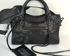 Balenciaga Classic Mini City Leather Bag Black