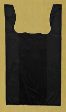 500 12x7x22 Black 1/6 Medium Retail High Density Plastic T-Shirt Bags