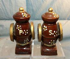 """Vintage Coffee Grinders Salt & Pepper Shakers JAPAN 4.5"""" tall Mark Twain Home"""