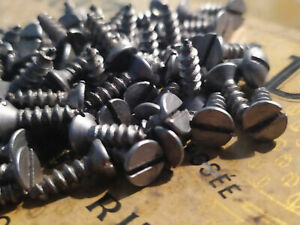 """40pieces #6 x 1/2"""" MINI OLD IRON SLOTTED ANTIQUE WOOD SCREWS  BOAT CAFE RACER"""