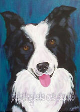 Whimsy Dog Portrait Custom painting photo Pitbull Collie Mutt Christmas Gift pet
