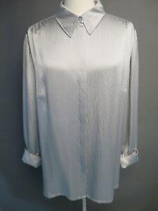 ESCADA Women's size 46 100% Silk Textured Long Tunic Blouse
