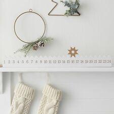 Gold & White Wooden Star Reusable Christmas Advent Calendar / Countdown Calendar