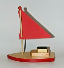 Wooden Toy Sail boat Red High Quality Toy Boat
