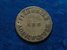 Canada 1855 Prince Edward Island PEI copper FISHERIES AND AGRICULTURE Token