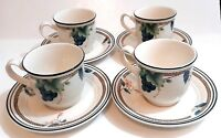 Noritake Keltcraft Coffee Tea Cup Saucer Ireland Natures Bounty 9199  - Set of 4