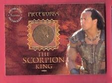 THE ROCK SCORPION KING WORN RELIC SWATCH COSTUME CARD HOLLYWOOD MOVIE ACTOR