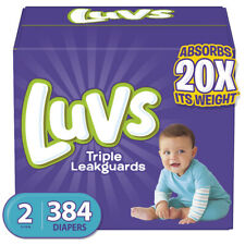 Luvs Ultra Leakguards Disposable Baby Diapers, MEGA PACK (Choose Size)