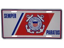 "U.S. Coast Guard USCG Semper Paratus Anchors 6""x12"" Aluminum License Plate Tag"