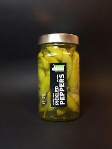 Griechische Peperoni, Eingelegte Paprikaschoten milde Nr. 2 im Salz. Glas 460g
