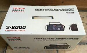 Tecsun S-2000 Weltempfänger unbenutzt in OVP Flugfunkempfang AM/FM