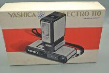 Yashica Electro 110 Film Pocket Camera with MS-110 Electronic Flash +Orginal Box