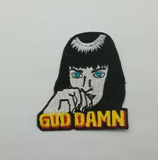 Mia Wallace GOD DAMN Patch Sew Iron On Embroidered Character Film Pulp Fiction