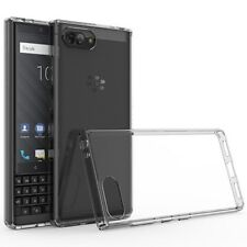 Clear Case For BLACKBERRY KEY 2 Hybrid Rubber Silicone TPU Protective Slim Cover