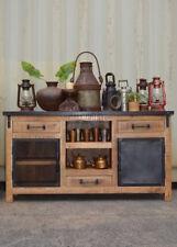 Vintage Industrial Timber Sideboard Buffet Cabinet Metal Door Entertainment Unit