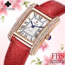 Superbe Montre de Luxe Quartz Japonais Femme WWOOR Classique Bracelet CUIR