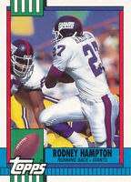 Rodney Hampton 1990 Topps Traded #30T New York Giants RC Rookie Football Card