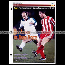 #081.08 UEFA ETOILE ROUGE BELGRADE-BORUSSIA MÖNCHENGLADBACH 1979 Fiche Football