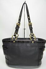 Coach Gallery Black Patent Laced Leather Tote Bag 11229