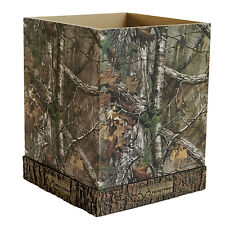 Realtree Xtra 2 Trash Cans Waste Baskets Camo Licensed Resin Cabin Office Bed