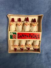 Vintage Pack of 8 Santa Picks, Christmas Kitsch Craft Supply, 1960s