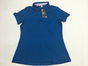 NWT Women's Under Armour HeatGear Zinger Short Sleeves Golf Polo Size Small